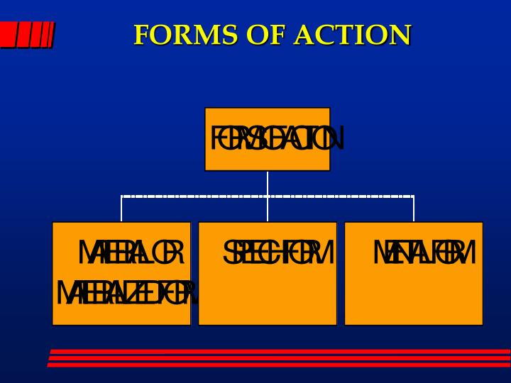 FORMS OF ACTION