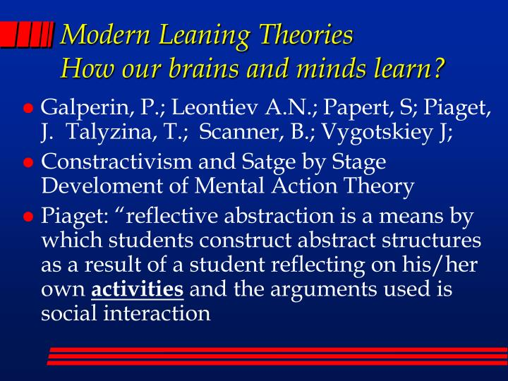Modern Leaning Theories
