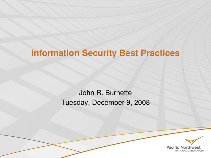 Information security best practices l.jpg