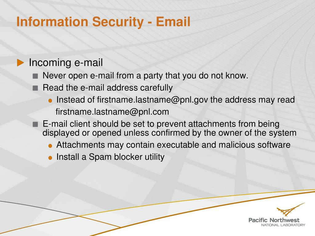Information Security - Email