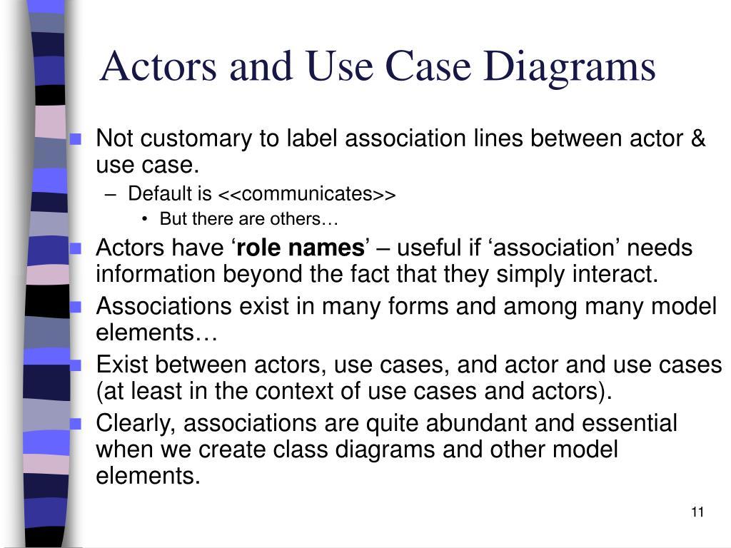 Actors and Use Case Diagrams