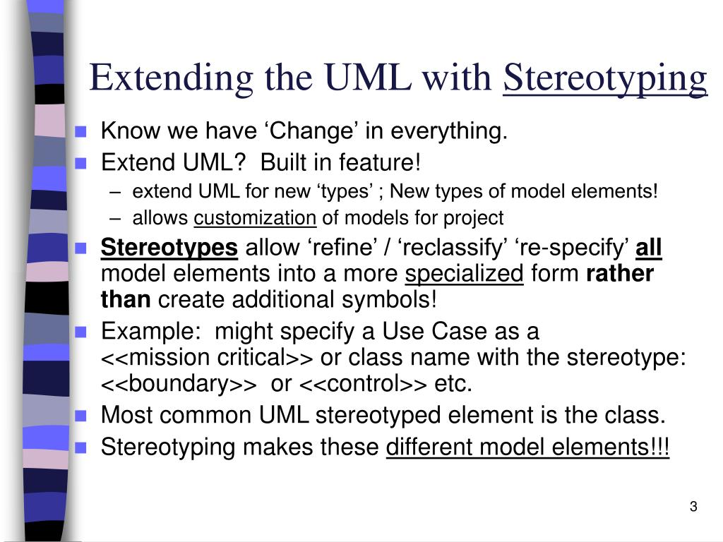 Extending the UML with