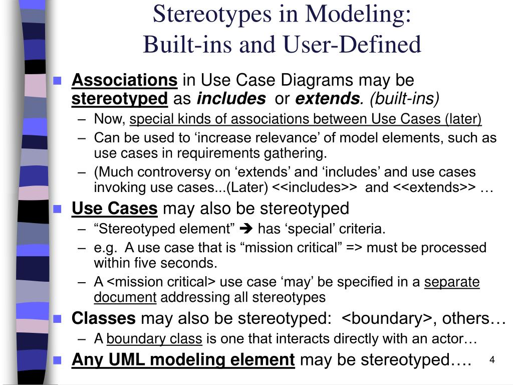 Stereotypes in Modeling: