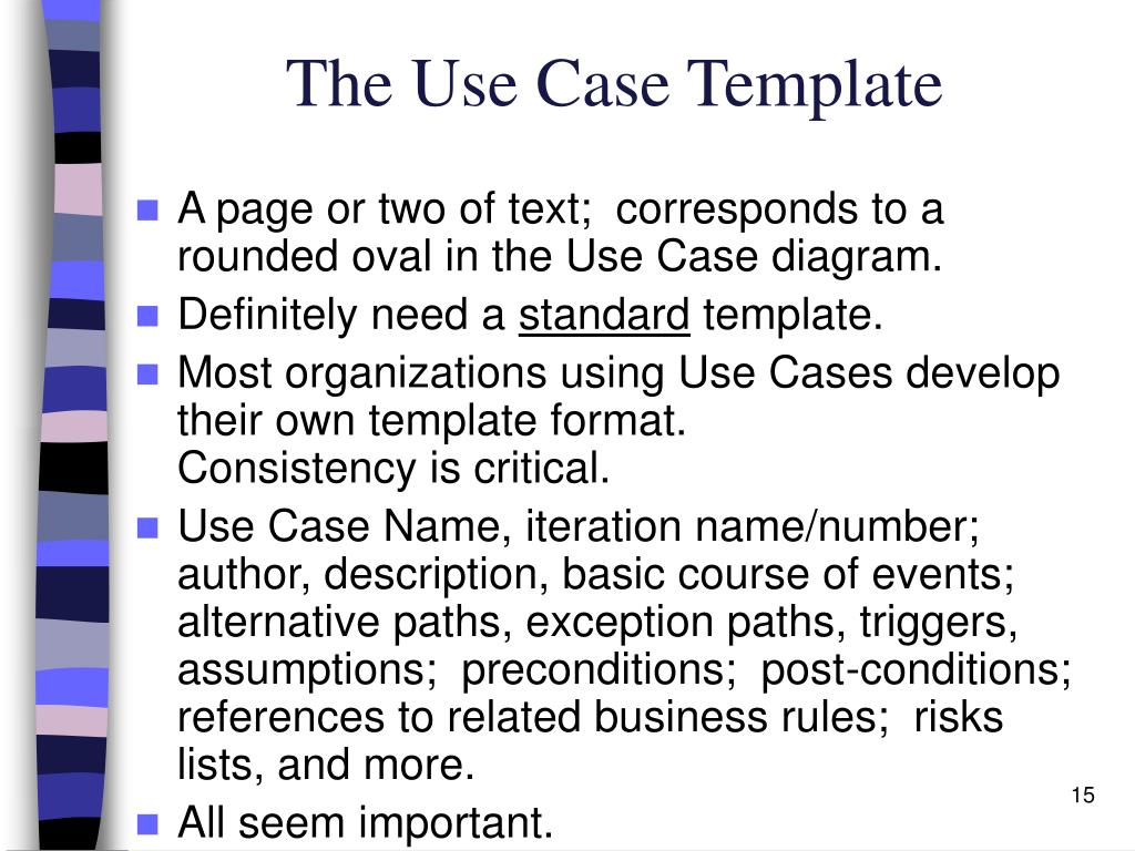 The Use Case Template