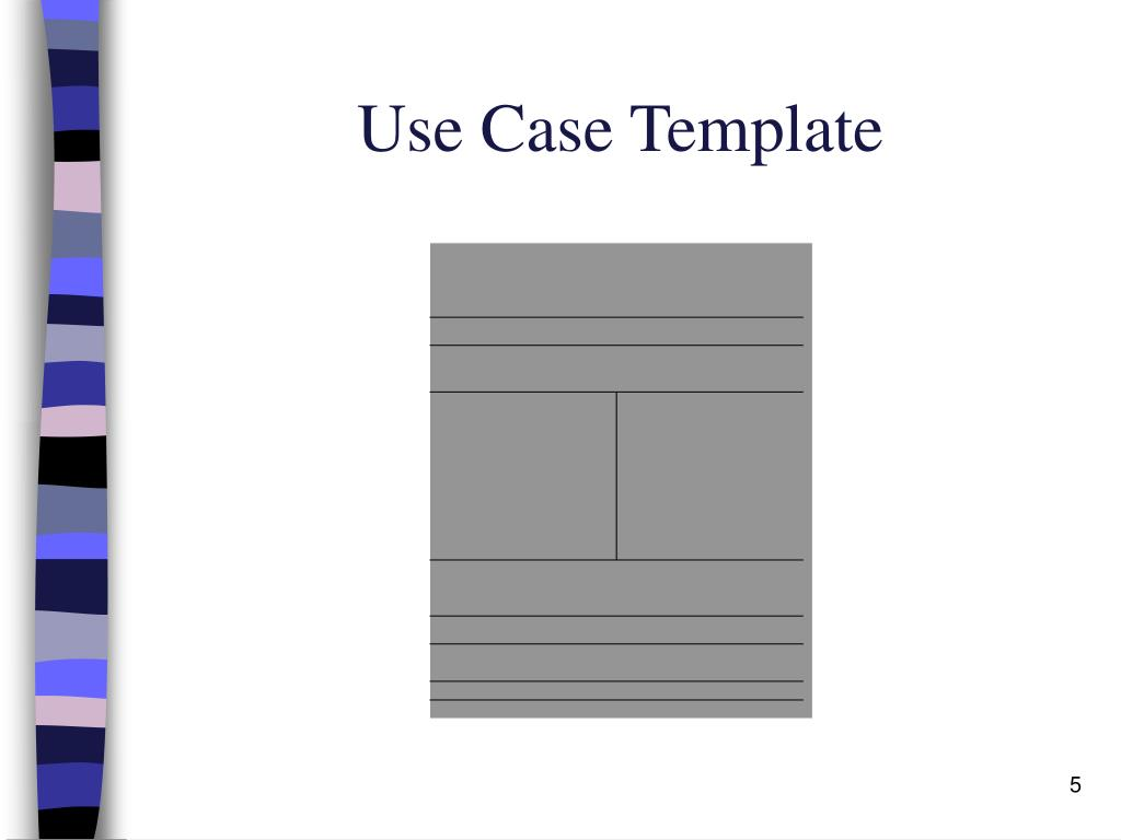 Use Case Template