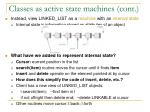 classes as active state machines cont