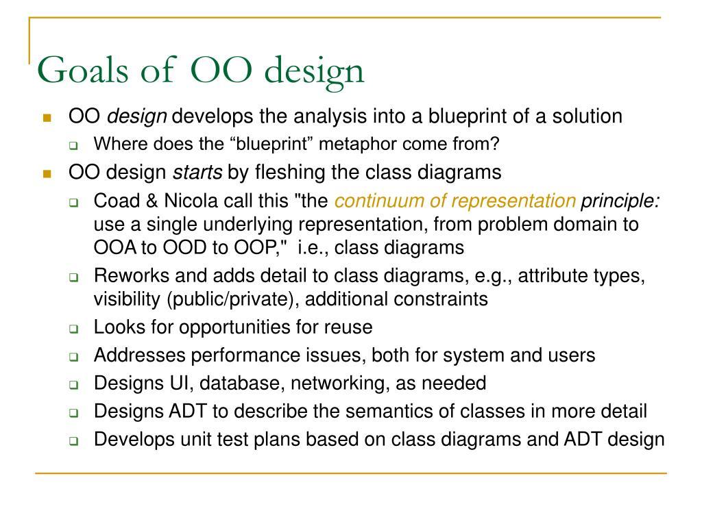 Goals of OO design