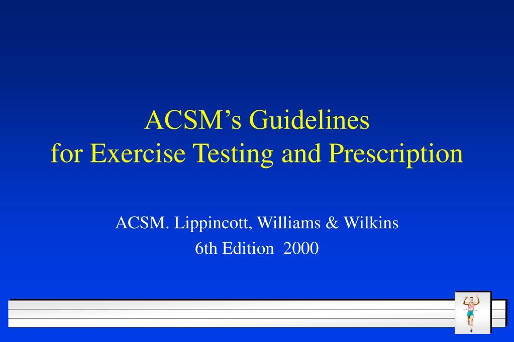 ACSM's Guidelines