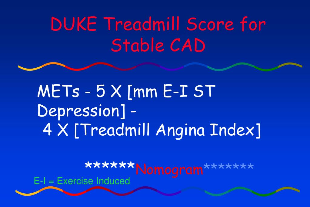 DUKE Treadmill Score for
