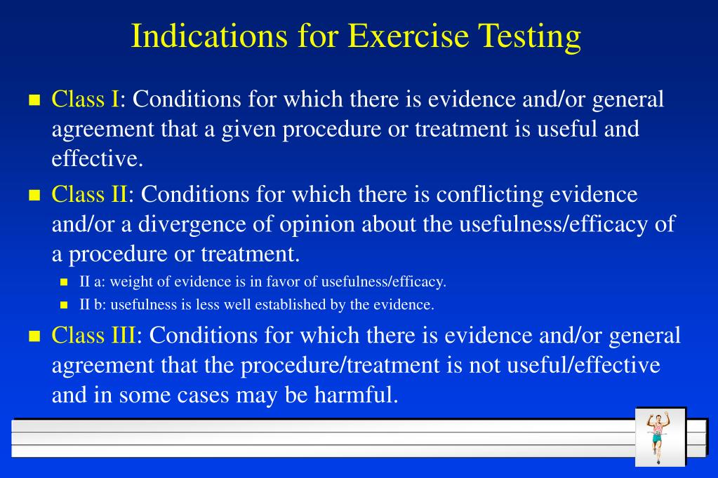 Indications for Exercise Testing