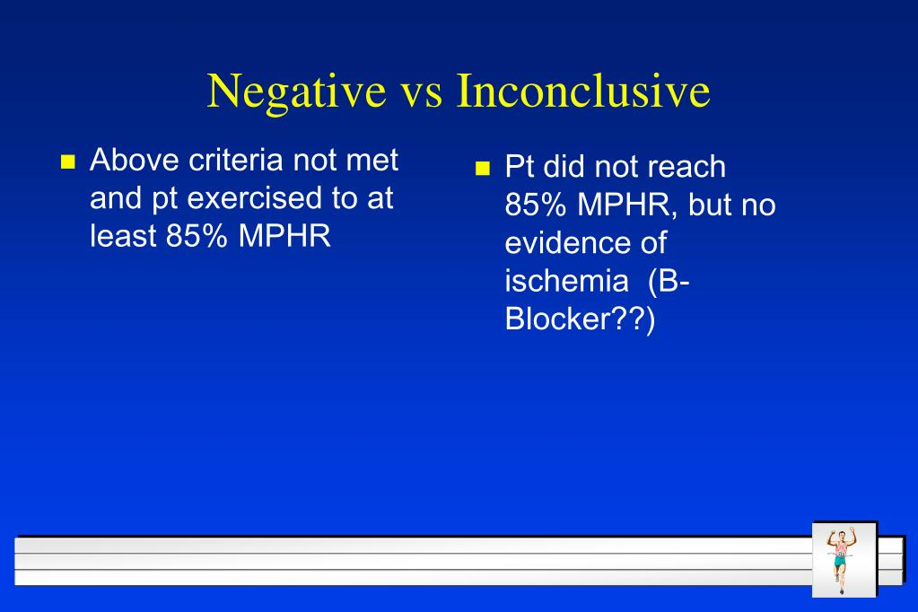 Above criteria not met and pt exercised to at least 85% MPHR