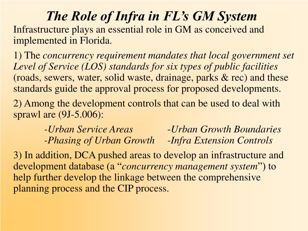 The Role of Infra in FL's GM System