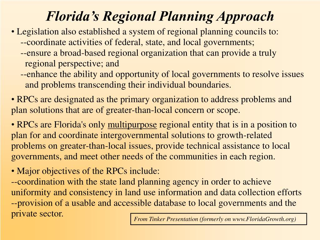 Florida's Regional Planning Approach