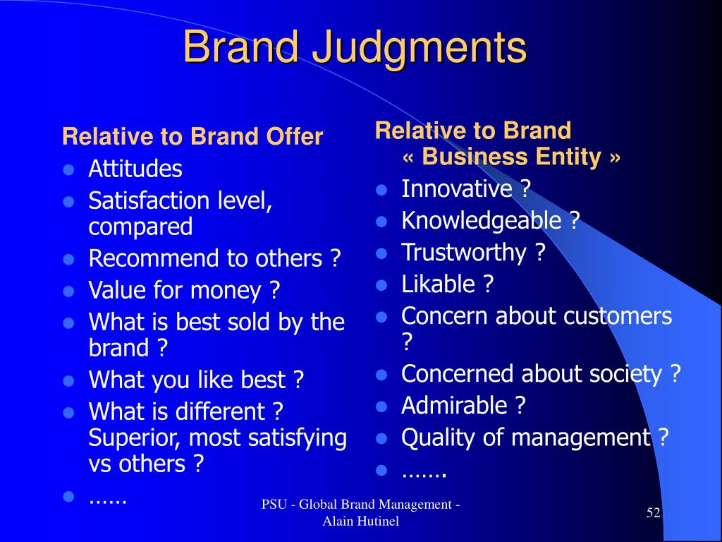Relative to Brand Offer