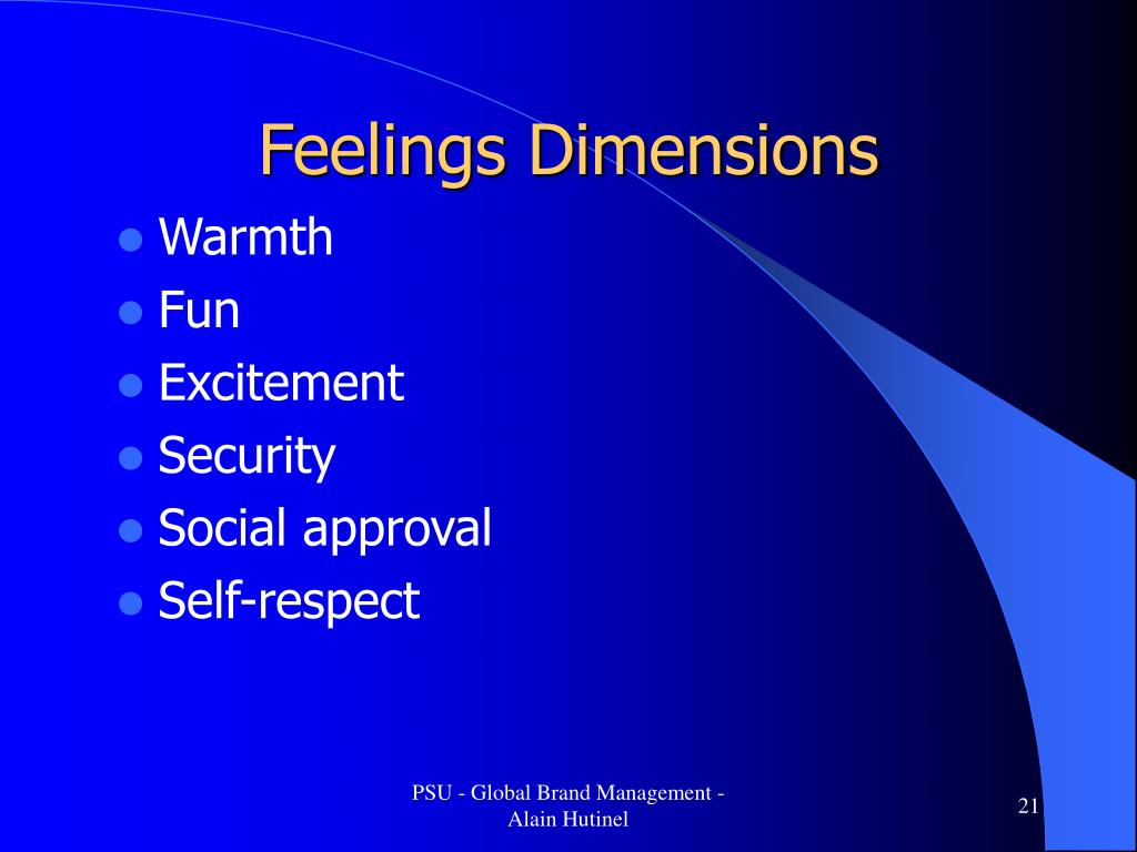 Feelings Dimensions