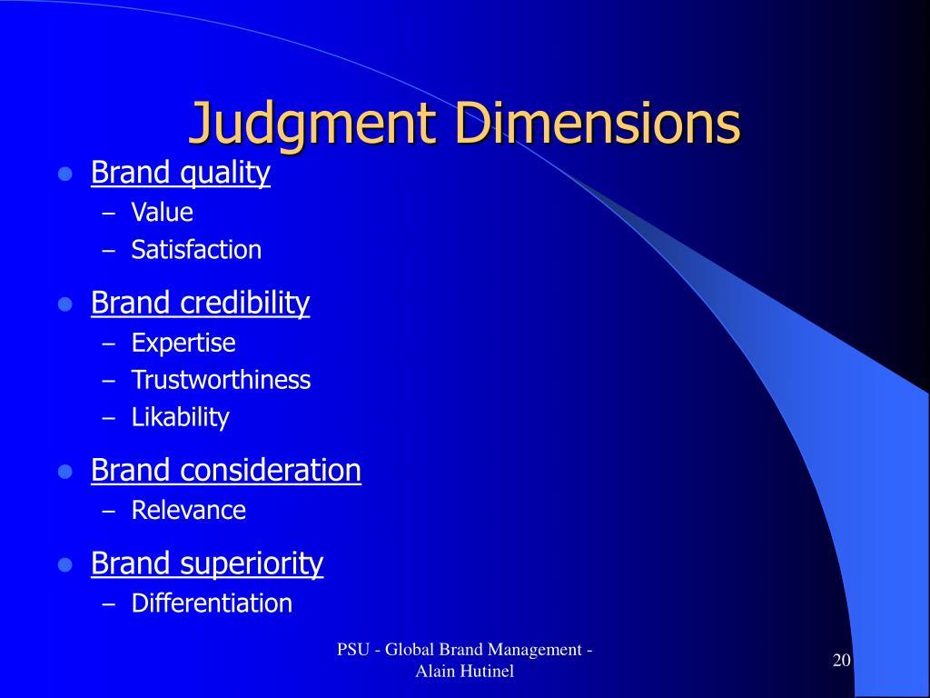 Judgment Dimensions