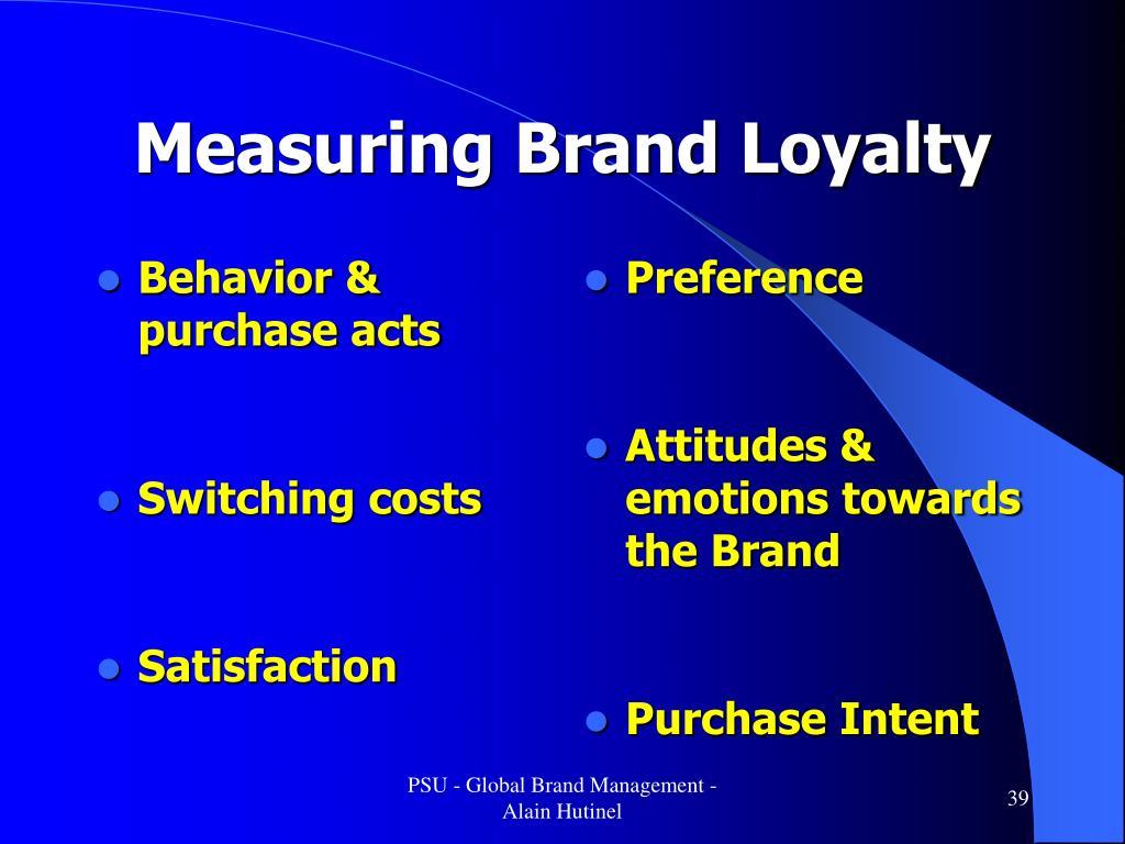 Behavior & purchase acts
