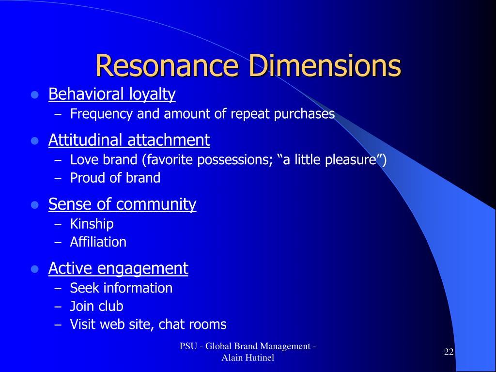 Resonance Dimensions