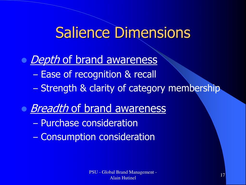 Salience Dimensions