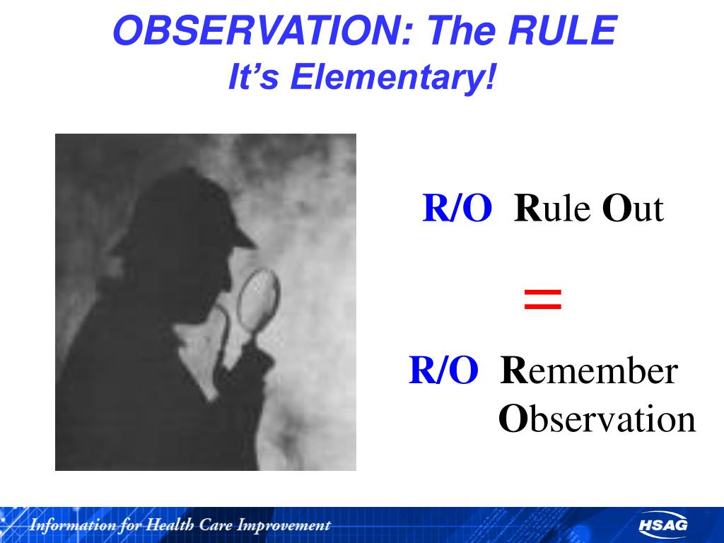 OBSERVATION: The RULE