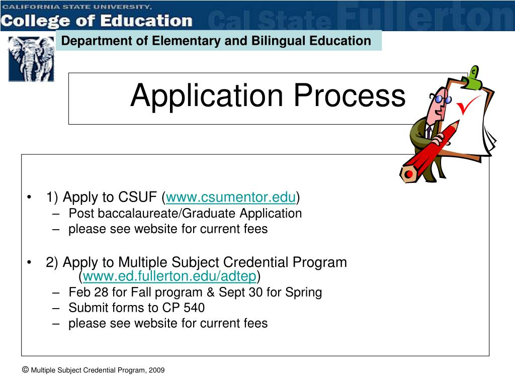 1) Apply to CSUF (