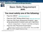 basic skills requirement bsr