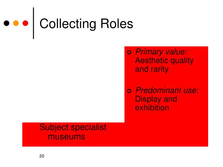 Subject specialist museums