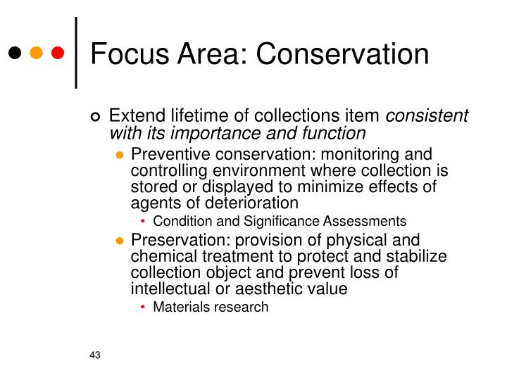 Focus Area: Conservation