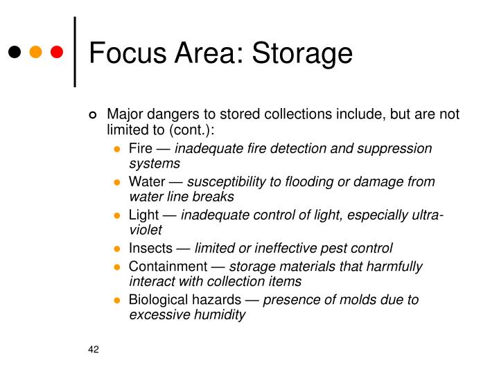Focus Area: Storage