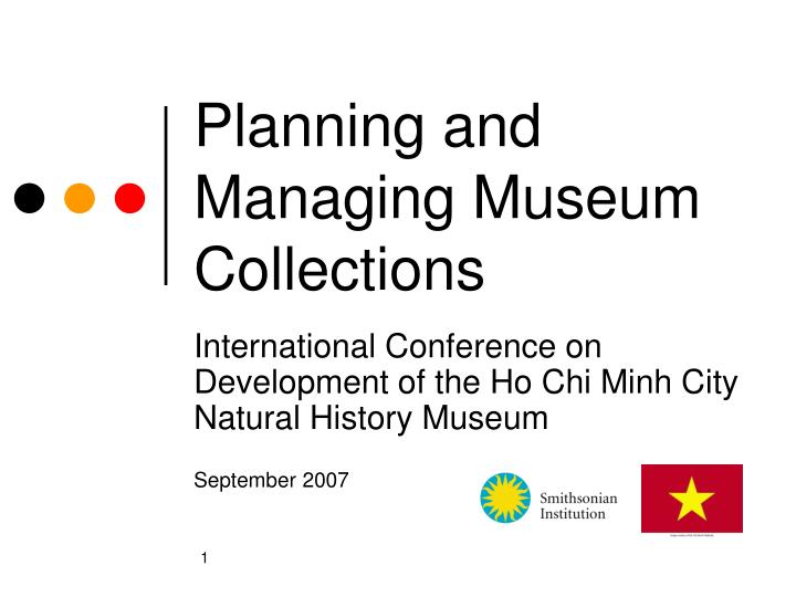 Planning and Managing Museum Collections