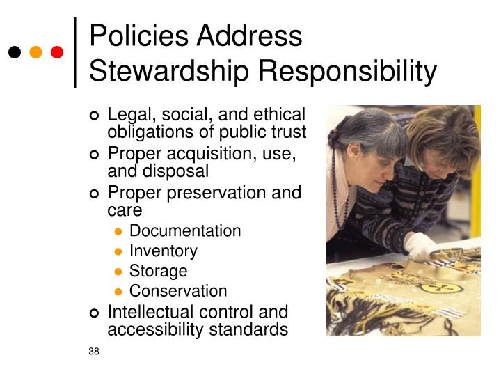 Policies Address Stewardship Responsibility