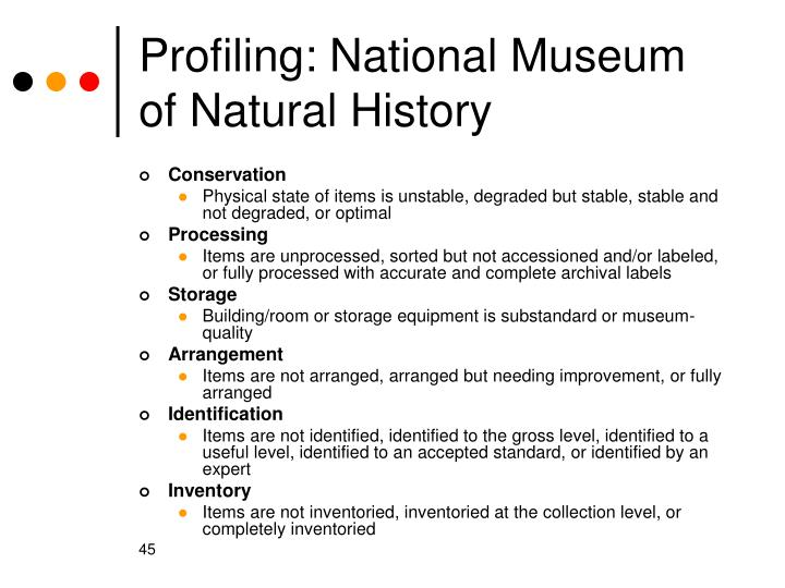 Profiling: National Museum of Natural History
