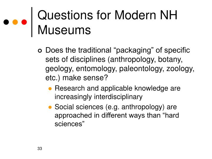 Questions for Modern NH Museums