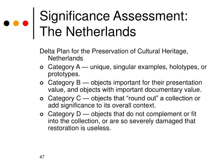 Significance Assessment: The Netherlands