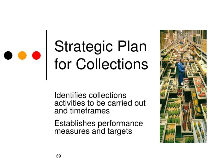 Strategic Plan for Collections