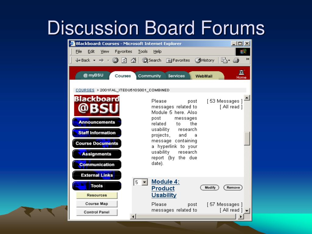 Discussion Board Forums