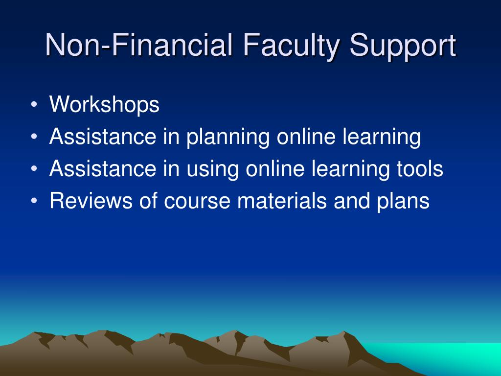 Non-Financial Faculty Support