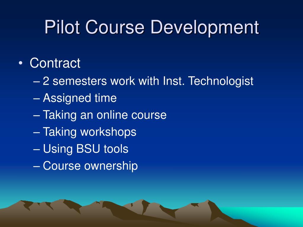 Pilot Course Development