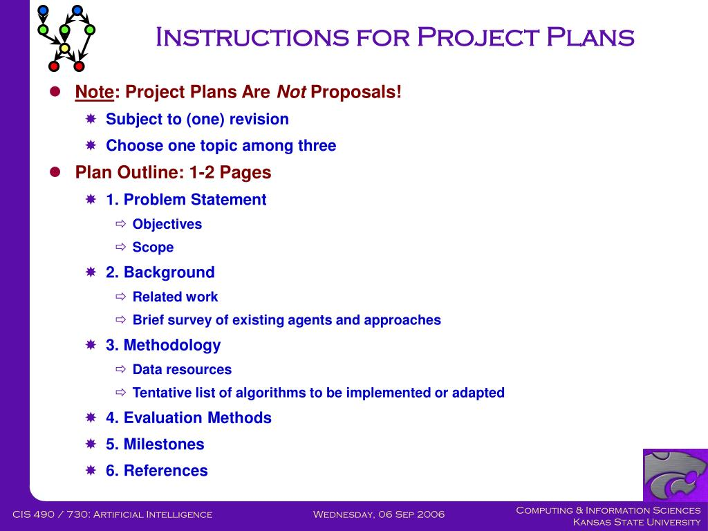 Instructions for Project Plans