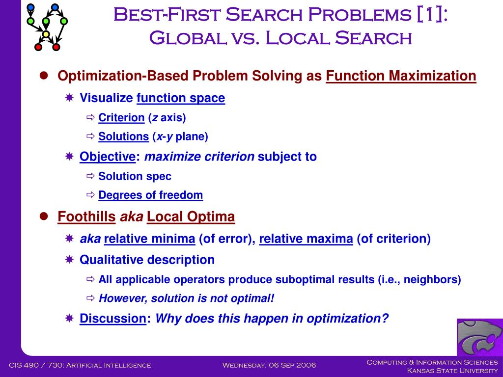 Best-First Search Problems [1]: