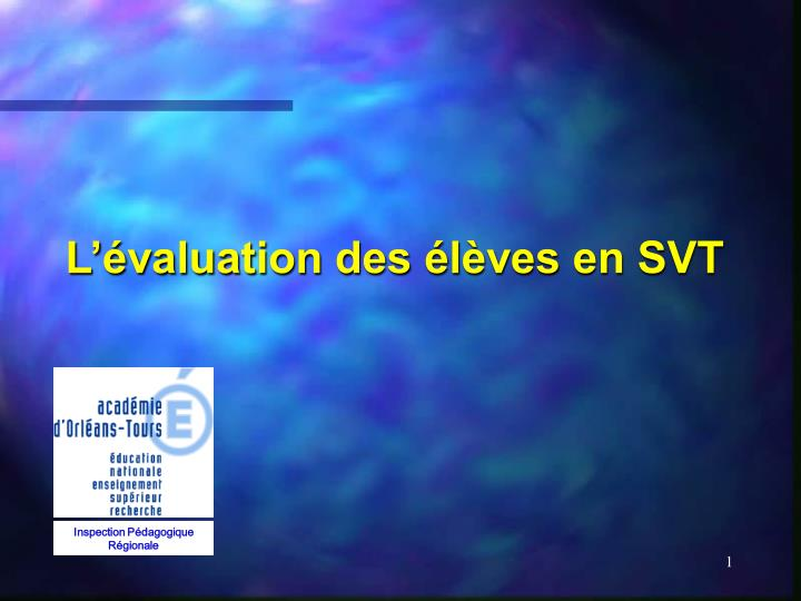 L valuation des l ves en svt