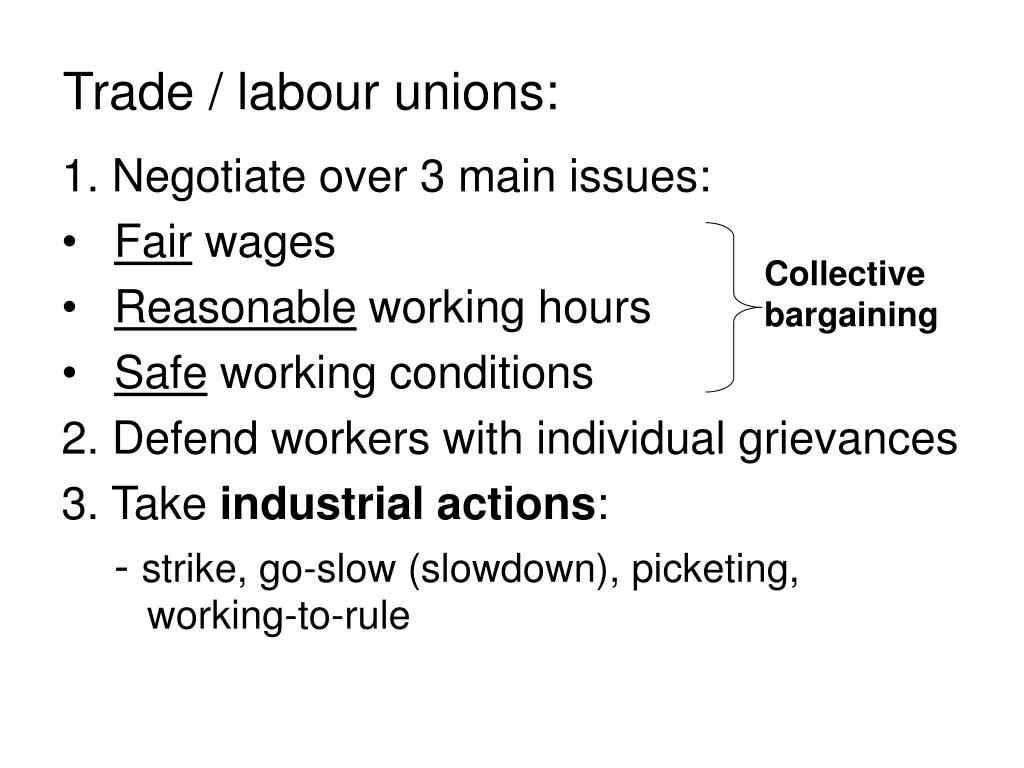 Trade / labour unions: