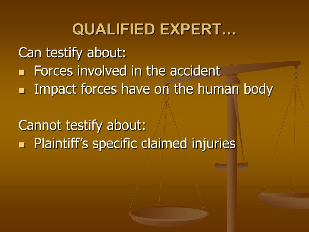 QUALIFIED EXPERT…