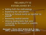 reliability is established by