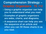 comprehension strategy graphic organizers te 112