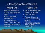 literacy center activities