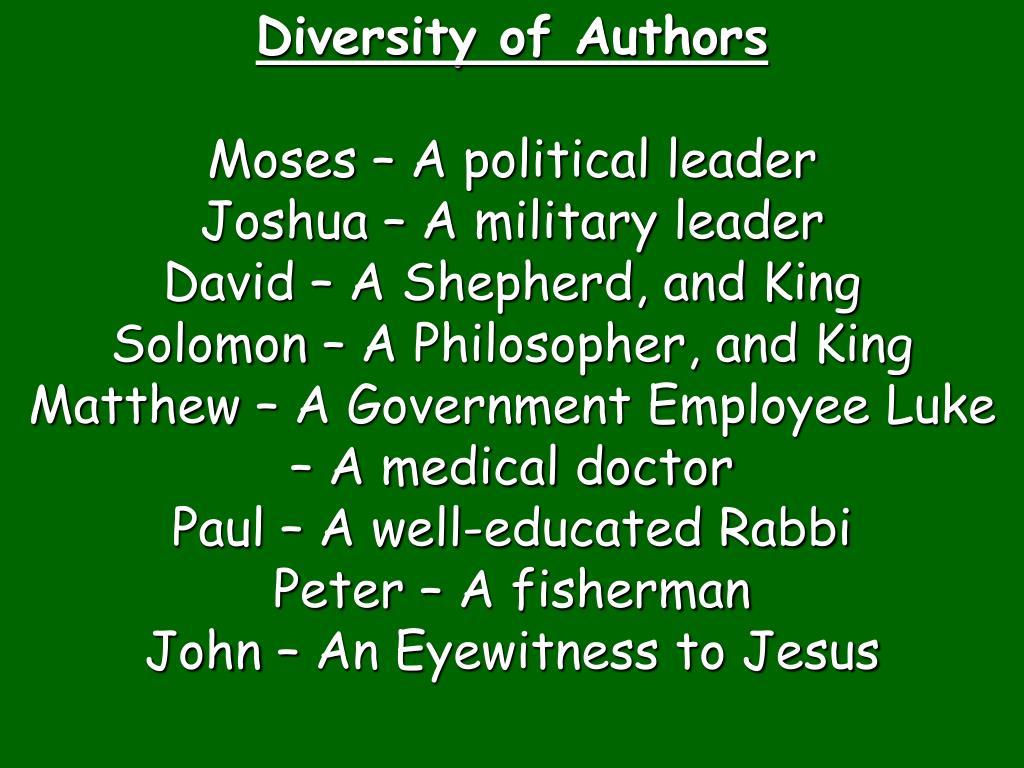 Diversity of Authors