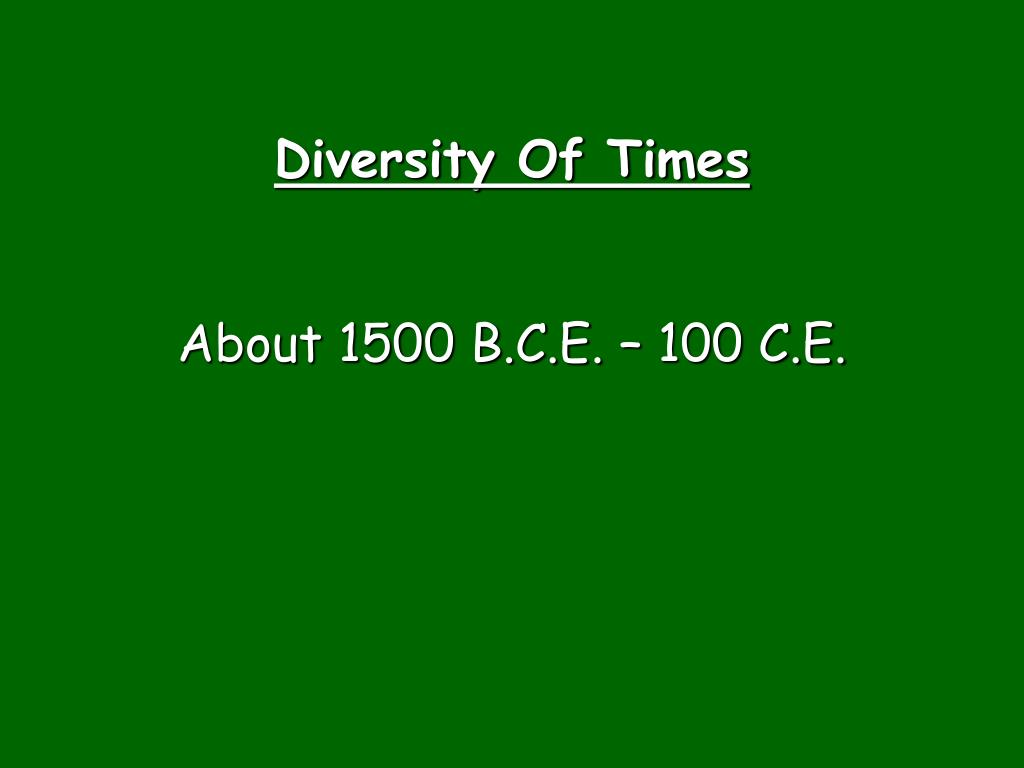 Diversity Of Times