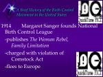 a brief history of the birth control movement in the united states4