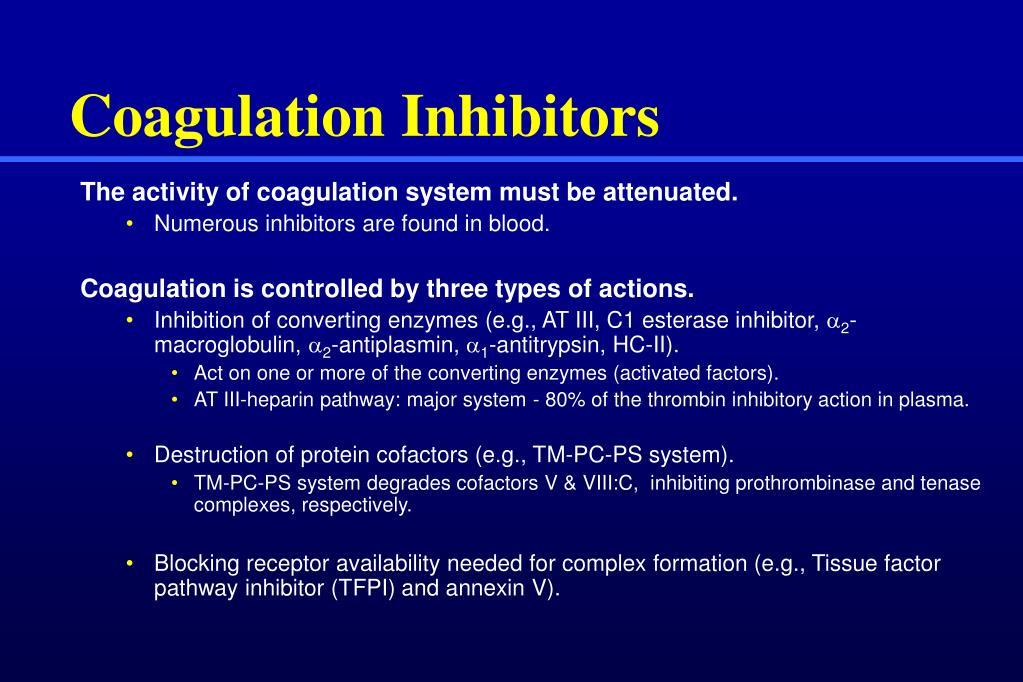 Coagulation Inhibitors